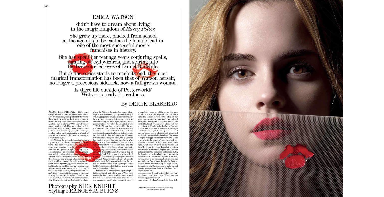 Emma Watson, Interview Magazine, May 2009