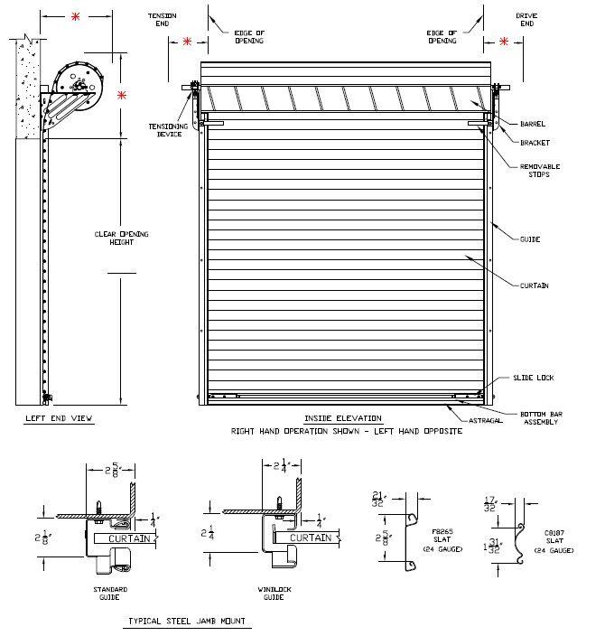 Model 2500 - Rolling Steel Commercial Garage Door Heavy ...