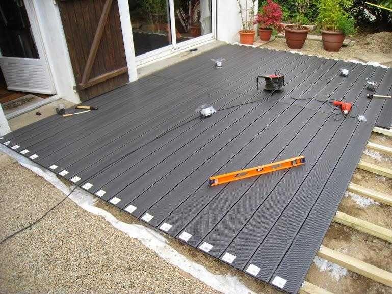 Poser une Terrasse Composite sur Lambourdes et Plots Terrasse bois - Pose De Carrelage Exterieur