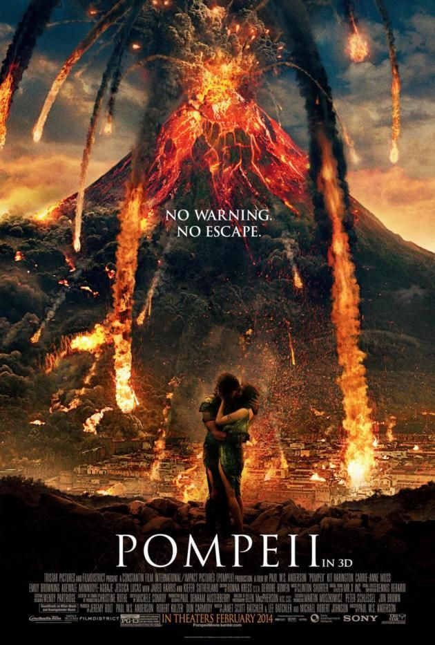 Pompeii Poster No Warning No Escape Filmes 2014 Cartaz De