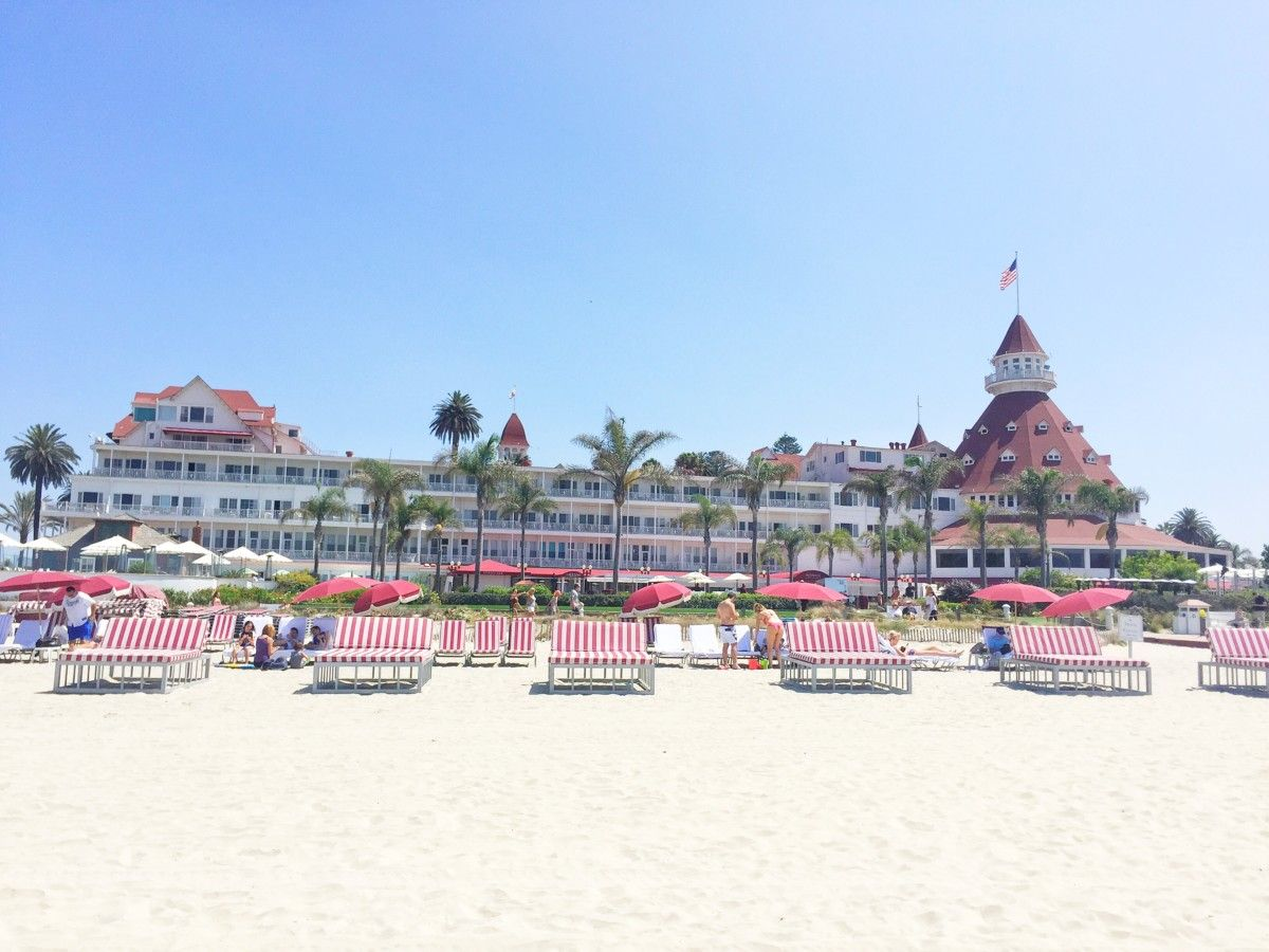 Hotel del Coronado. You must spend a beach day here in San Diego. Luxury and a historic landmark.