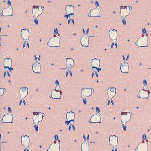 Cotton and Steel House Designer - Noel - Snow Fuzzies in Pink