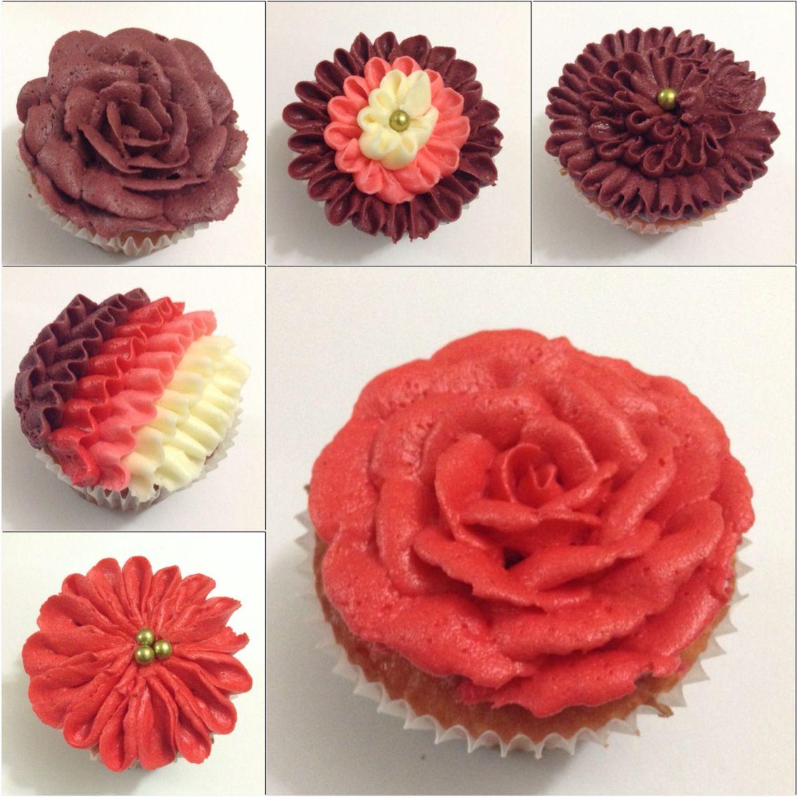 Beautiful buttercream flower cupcakes buttercream cakes beautiful buttercream flower cupcakes izmirmasajfo