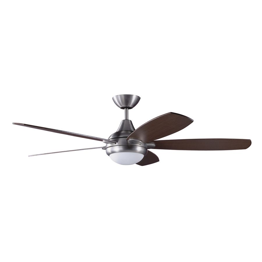 Kendal Lighting Espirit Satin Nickel Downrod Mount Indoor Ceiling Fan With Light Kit And Remote