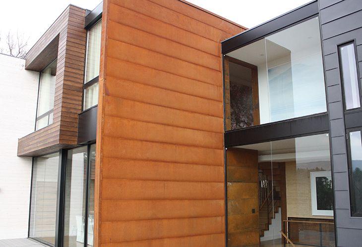 Rustwall Corten Wall Panel Corten Soffit And Wall Panel In Stock Metal Siding Installation Metal Siding Steel Siding