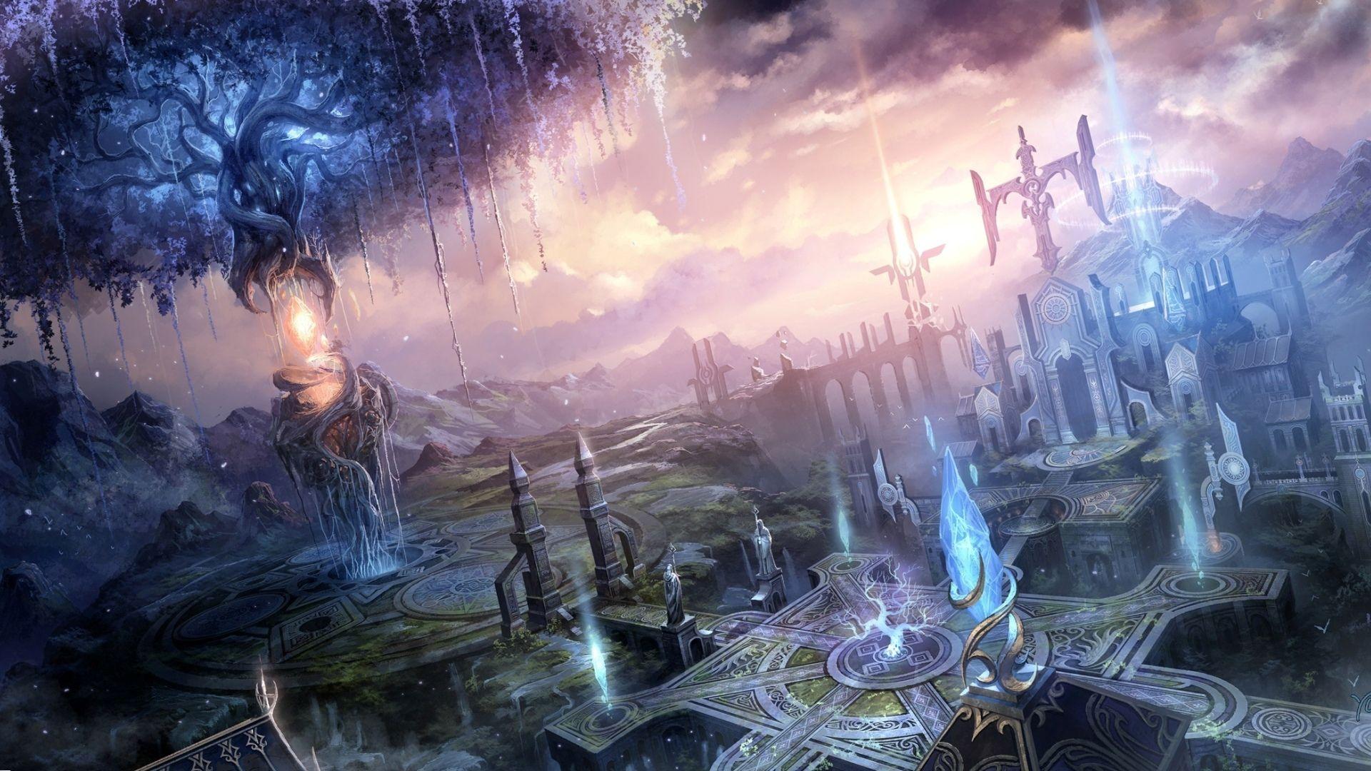 Fantasy Landscapes Cities Art Magic Wallpaper 1920x1080 30223 Fantasy Landscape Fantasy Art Landscapes Fantasy City