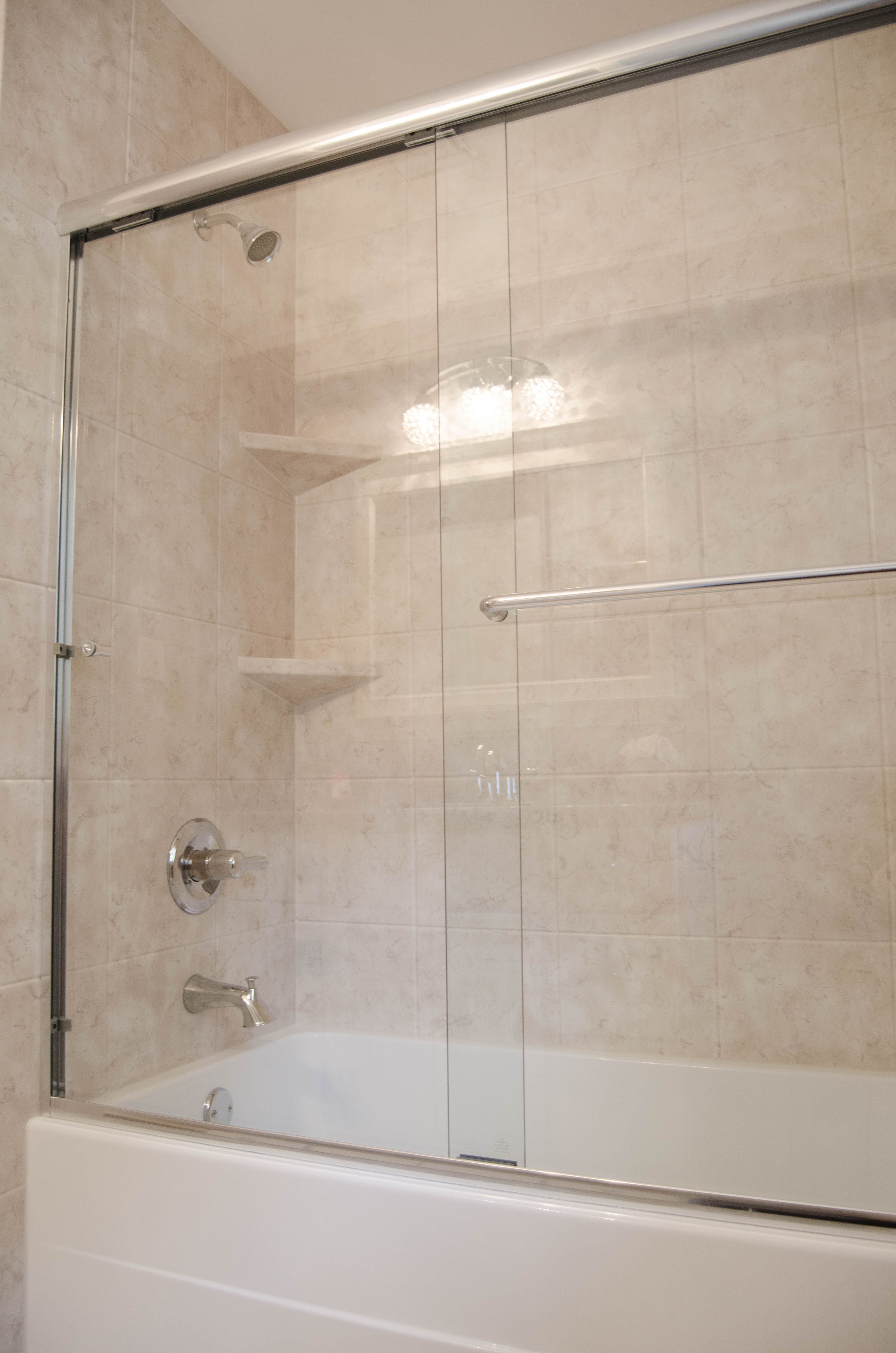 Bathroom Remodel. Large Shower and Tub Remodel. These glass sliding ...