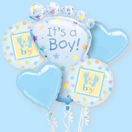 6ft Tall When Inflated It S A Boy Bouquet Of Baby Shower Balloons