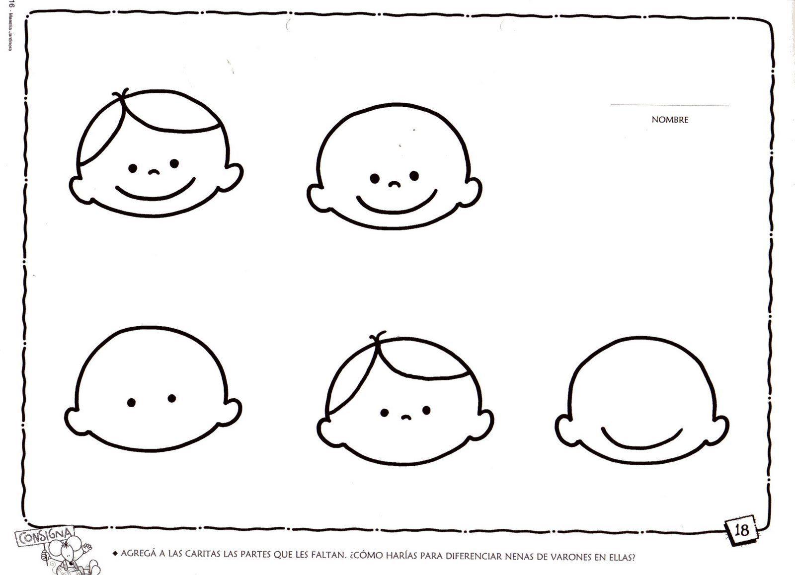 Dibujos De Aplicacio De Partes De La Cara: RECURSOS PARA EDUCACIÓN INFANTIL