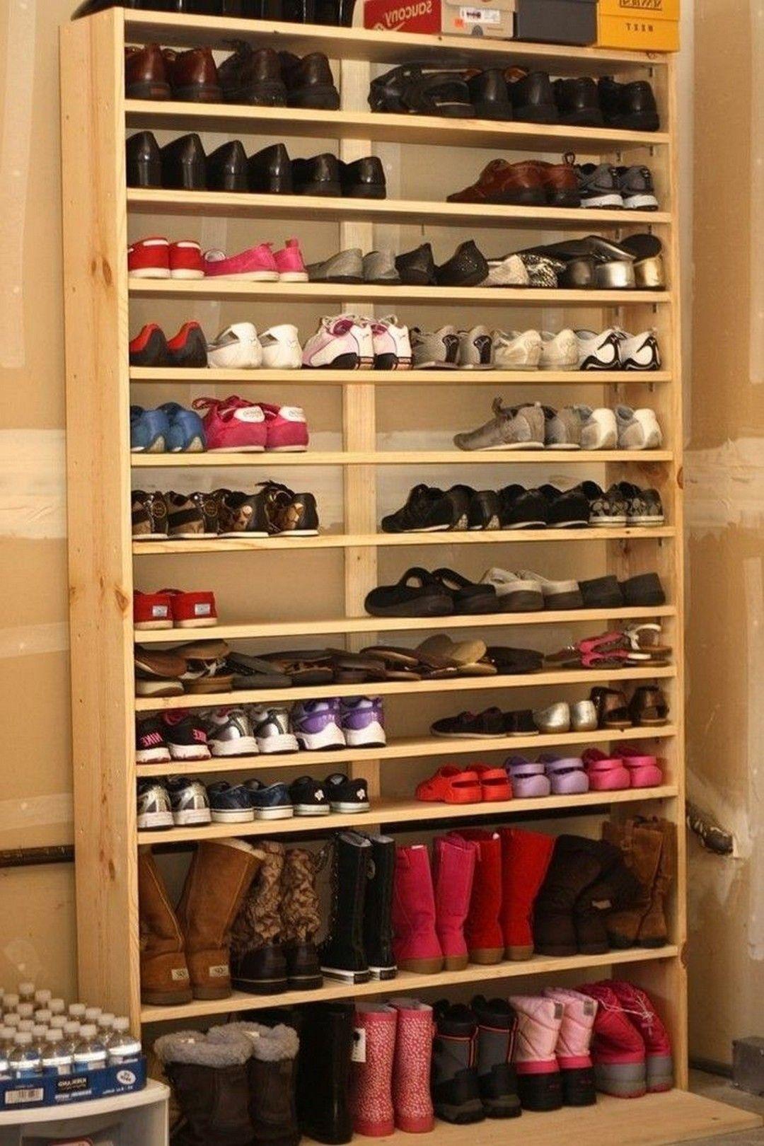 Shoe Rack For My Wife Garage Storage Shelves Diy Closet Shoe