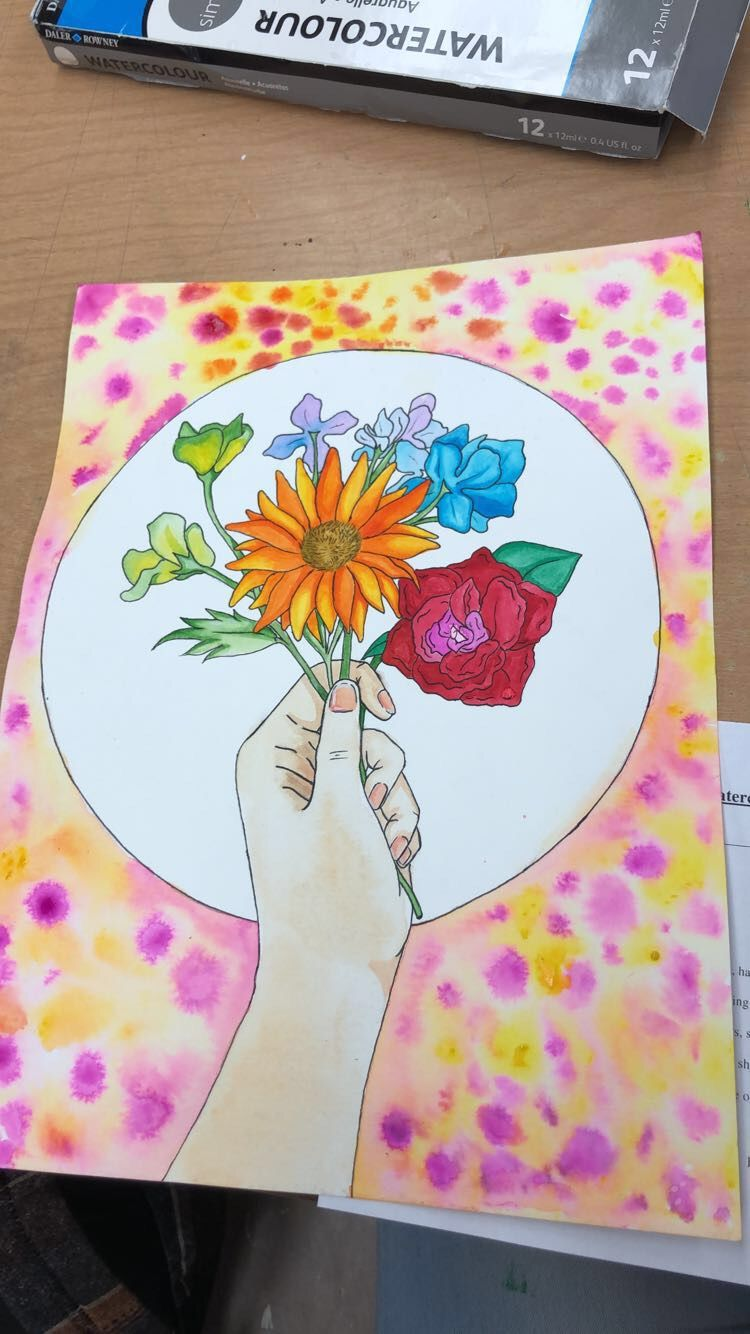 A Beautiful Watercolor Painting I Did For Art Class I Gave It To