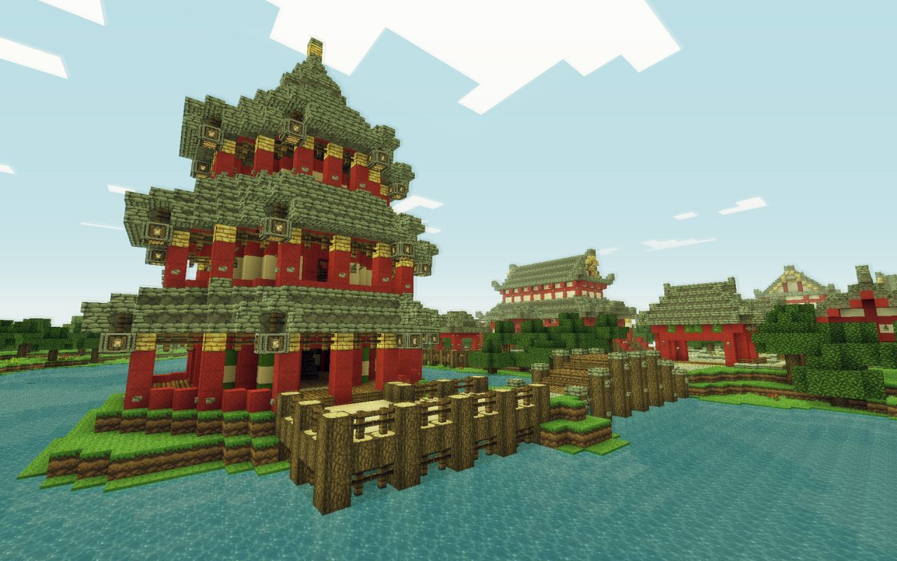 Chinese Temple of Jìng hú [Timelapse] Minecraft Project