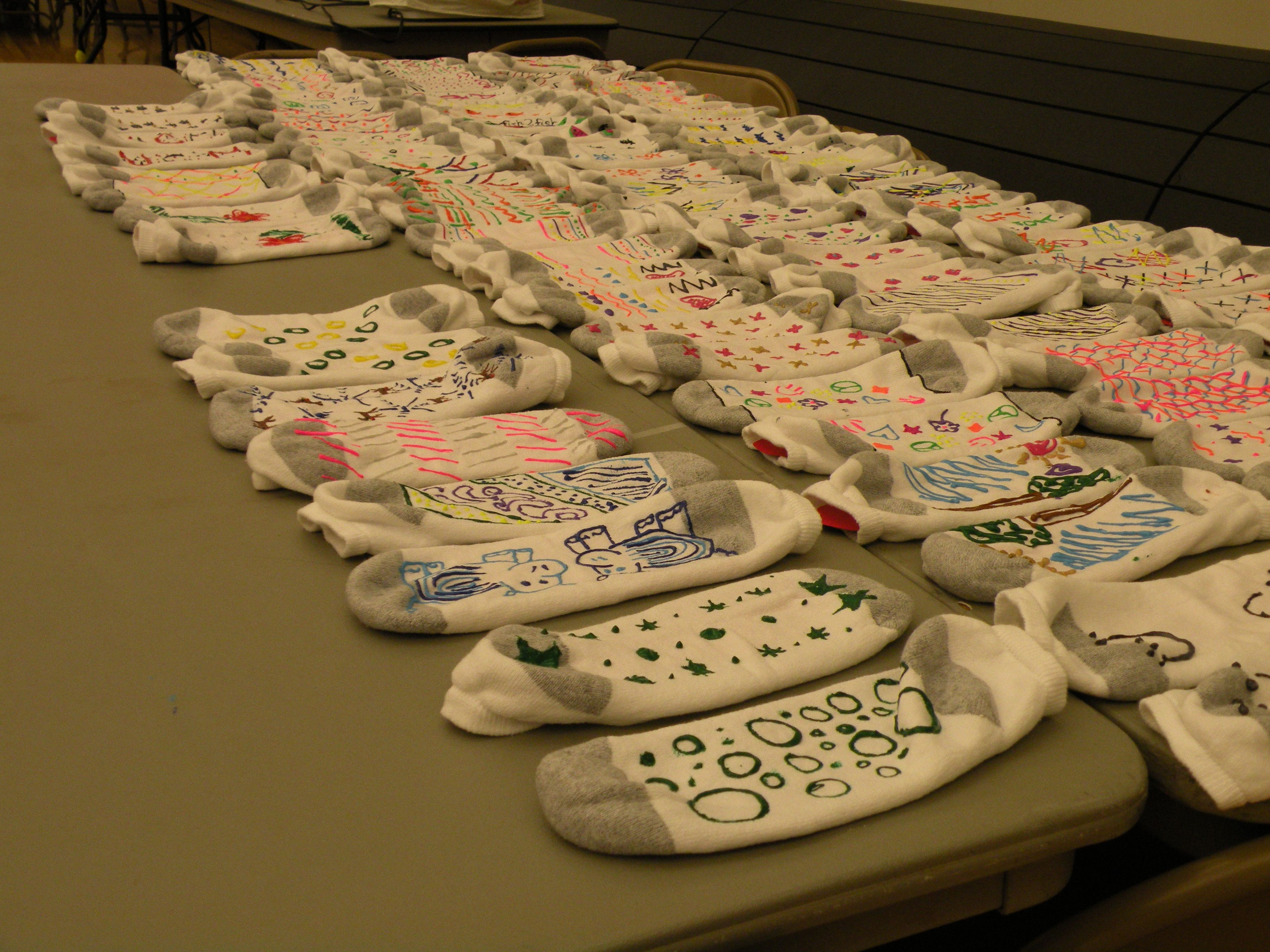 Students Made No Skid Socks For Local Nursing Home Residents And