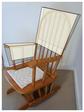 Unique Reupholster glider to a modern rocking chair Really want to do this but have chance of figuring it out Simple - Cool modern rocking chair Photo