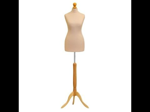 Black Dummy + Black Stand Female Tailors Dummy Size 12-14 Fashion Student Dressmaker Display Bust Mannequin