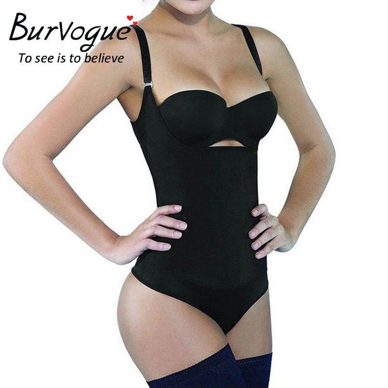 Women Waist Trainer Body Shaper Slimming Tummy Control Shaperwear Bodysuits DE