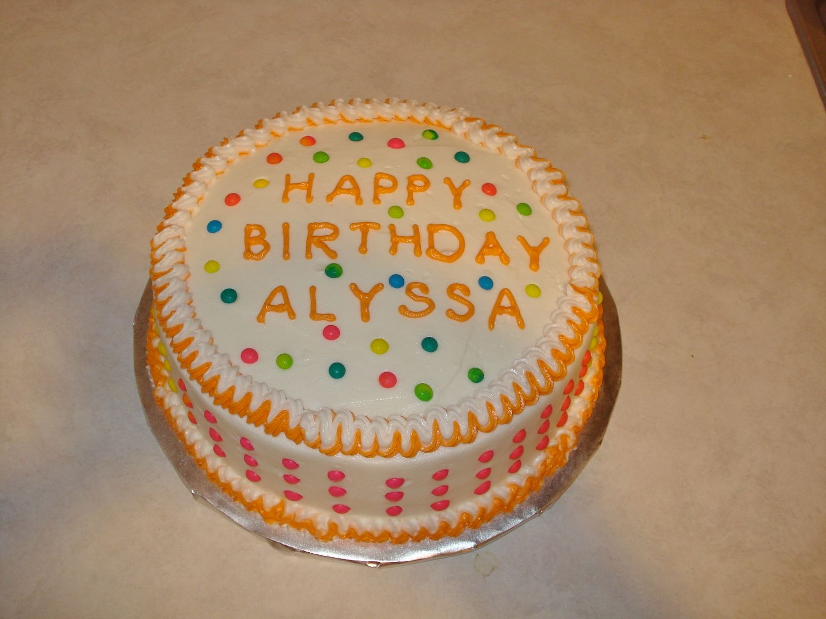 Birthday Cake Decorated With Candy Buttons Nickeys Cakes