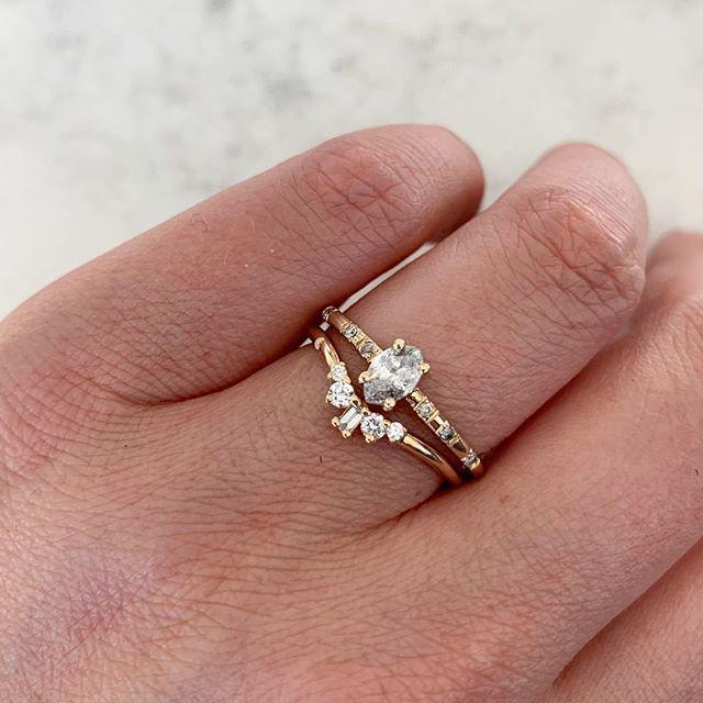 Salt And Pepper Diamond Ring Stack Ring Verlobung Verlobungsring Verlobung