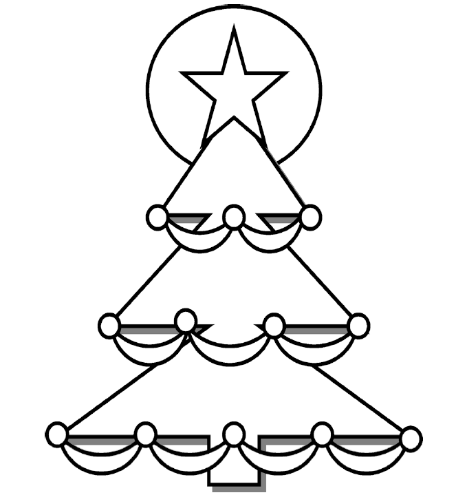 Christmas Coloring Pages for Preschool | ... christmas tree coloring ...