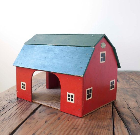 vintage red toy barn kinderzimmer pinterest spielzeug spielzeug diy und kinder. Black Bedroom Furniture Sets. Home Design Ideas