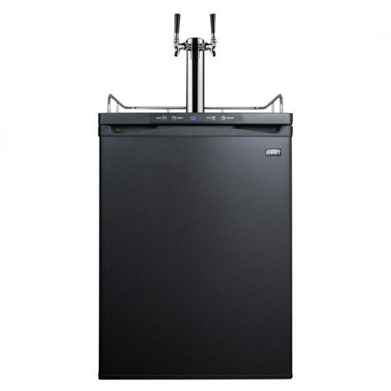 Summit Under Counter Kegerator - 2 Faucets - Black Door