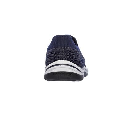 Skechers Men's Expected Gomel Memory Foam Relaxed Fit Slip On Shoes (Navy) - 11.0 M