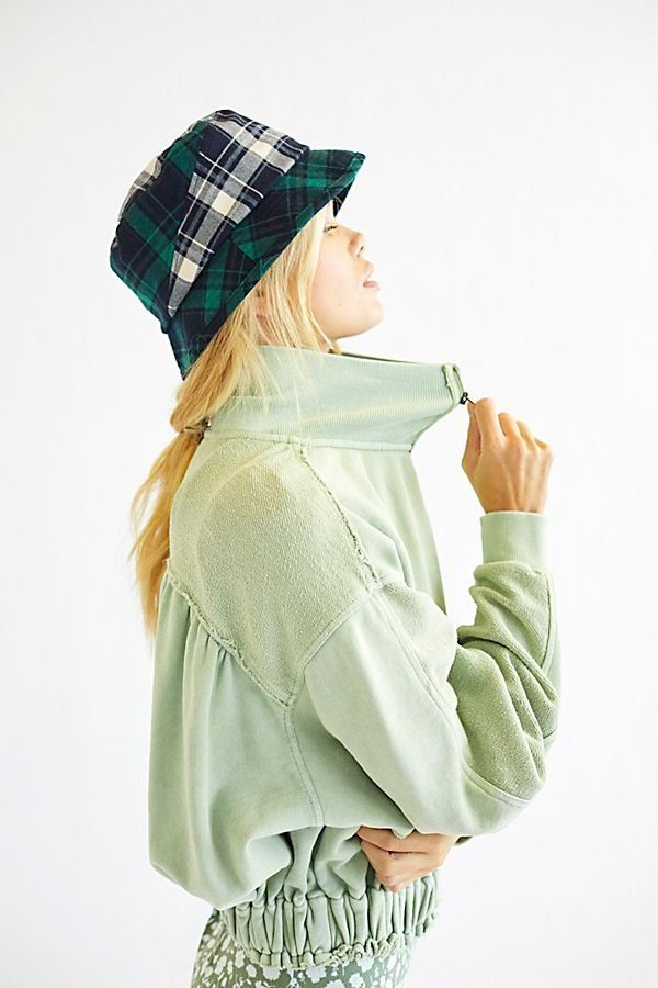 f8f50e47c38655 Kangol Plaid On Plaid Bucket Hat - Green and Blue Plaid Bucket Hat - Plaid  Bucket Hats - Plaid Hats - Bucket Hats - Trendy Hats