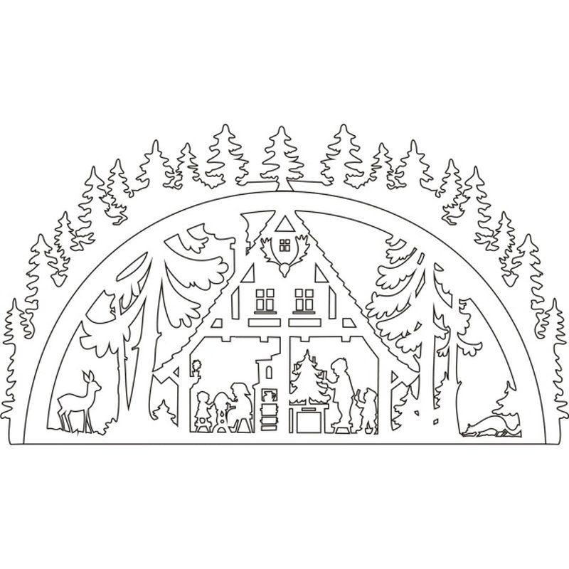 Vorlage schwibbogen waldhaus deko - Holzarbeiten vorlagen ...