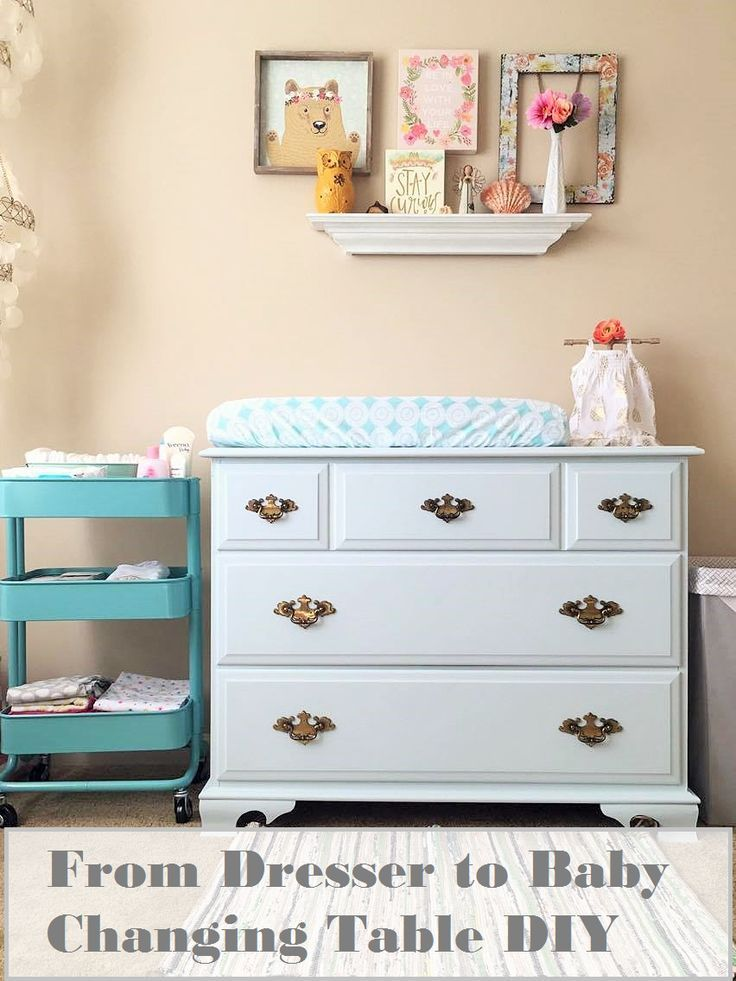 A No-Sanding Easy DIY turning a dresser into a changing table ...