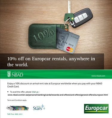Enjoy 10 Discount On Arrival Rent Rate At Europcar Worldwide When