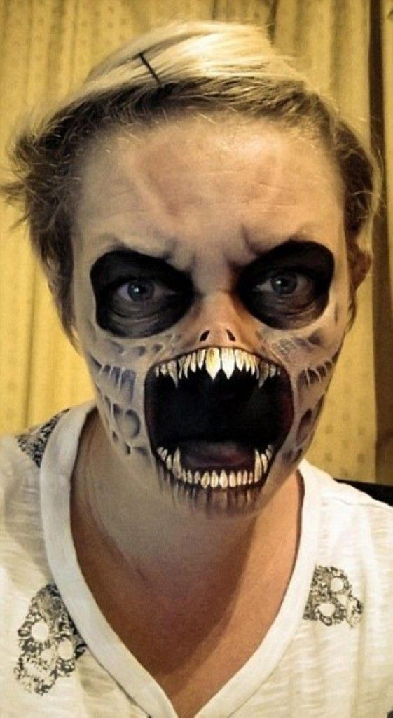 MakeUp-Halloween fACEPAINT Pinterest Pinturas de rostros