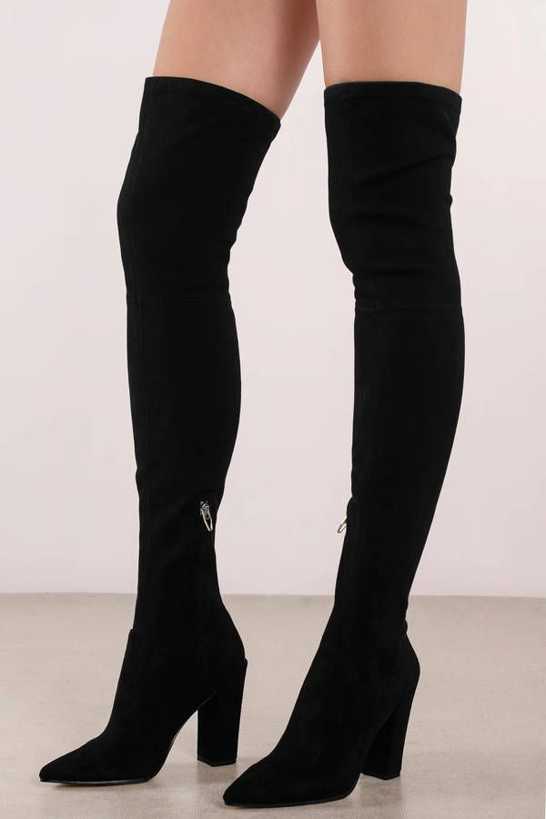 Dolce Vita Black Thigh High Boots in