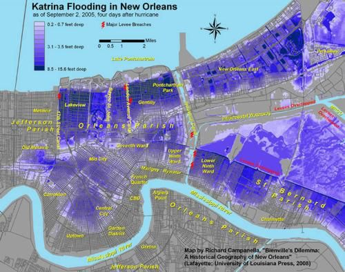 Hurricane Katrina New Orleans Map.Pin By Mr Rojo On Ap Hug Human Geography Hurricane Katrina New
