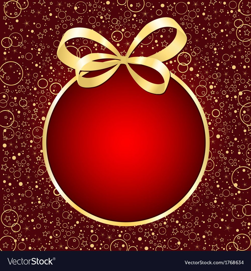 Christmas Red Card Vector Image On Vectorstock Red Christmas Red Cards