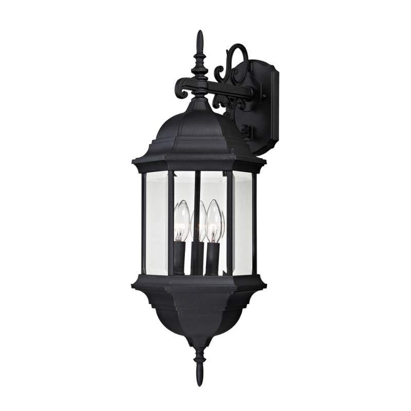 Cornerstone Lighting 8613EW Spring Lake 3 Light Outdoor Wall Sconce Matte  Black Outdoor Lighting Wall Sconces