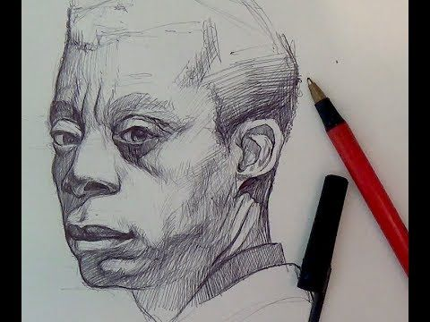 Pen ink drawing tutorials ballpoint pen portrait demo youtube