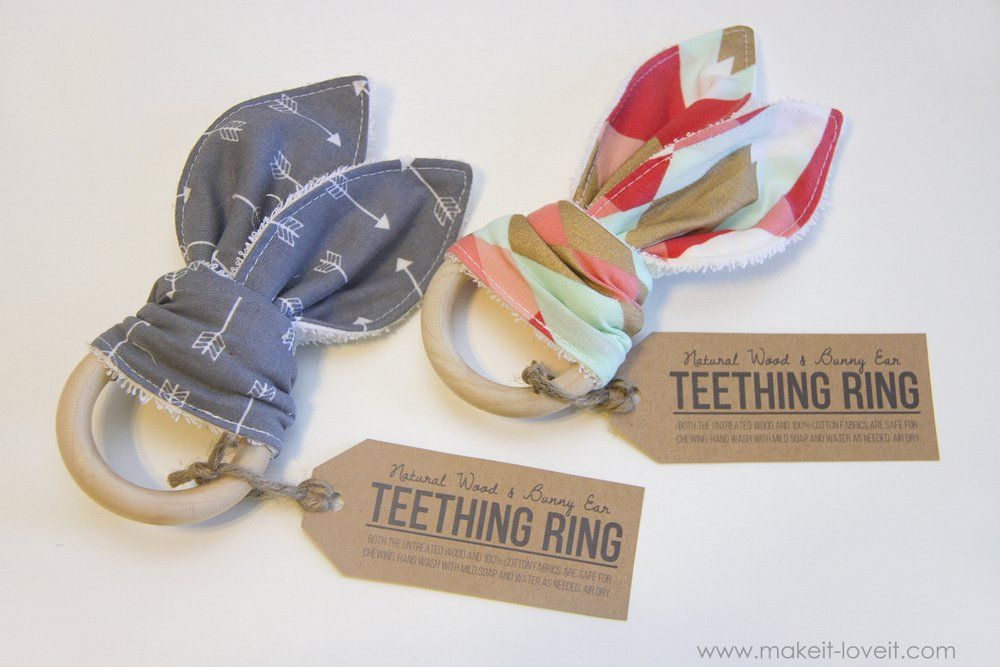 Natural wood & bunny ear teething ring | make it and love it.