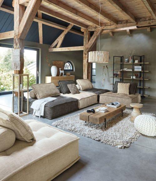 Salontafel van massief eikenhout en zwart metaal Magnus | Maisons du Monde