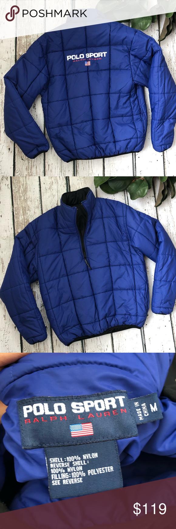 Vtg 90 S Polo Sport Reversible Puffer Jacket Ralph Lauren Jackets Jackets Puffer Jackets [ 1740 x 580 Pixel ]