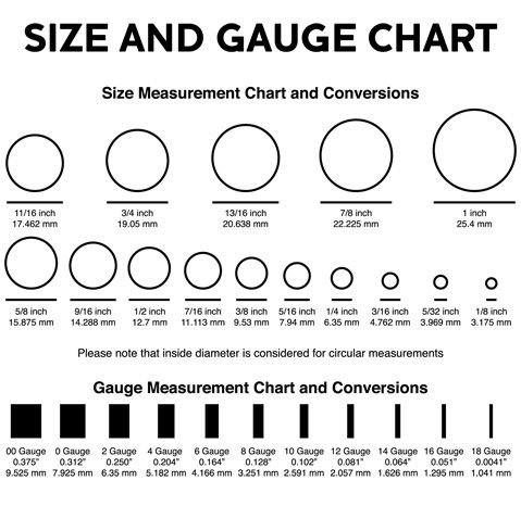 Gauge Size Chart 4 Now I Can Remember My