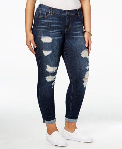 da2b6abbf29 Celebrity Pink Trendy Plus Size Nostalgia Wash Ripped Jeans ...