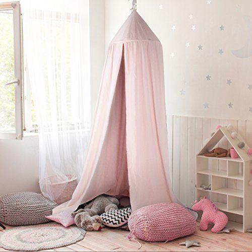 Baldachin , JELEGAN Kinder Bett Kuppel Baumwoll Betthimmel Moskitonetz  Spiel Zelt Gut Für Baby Innen Im
