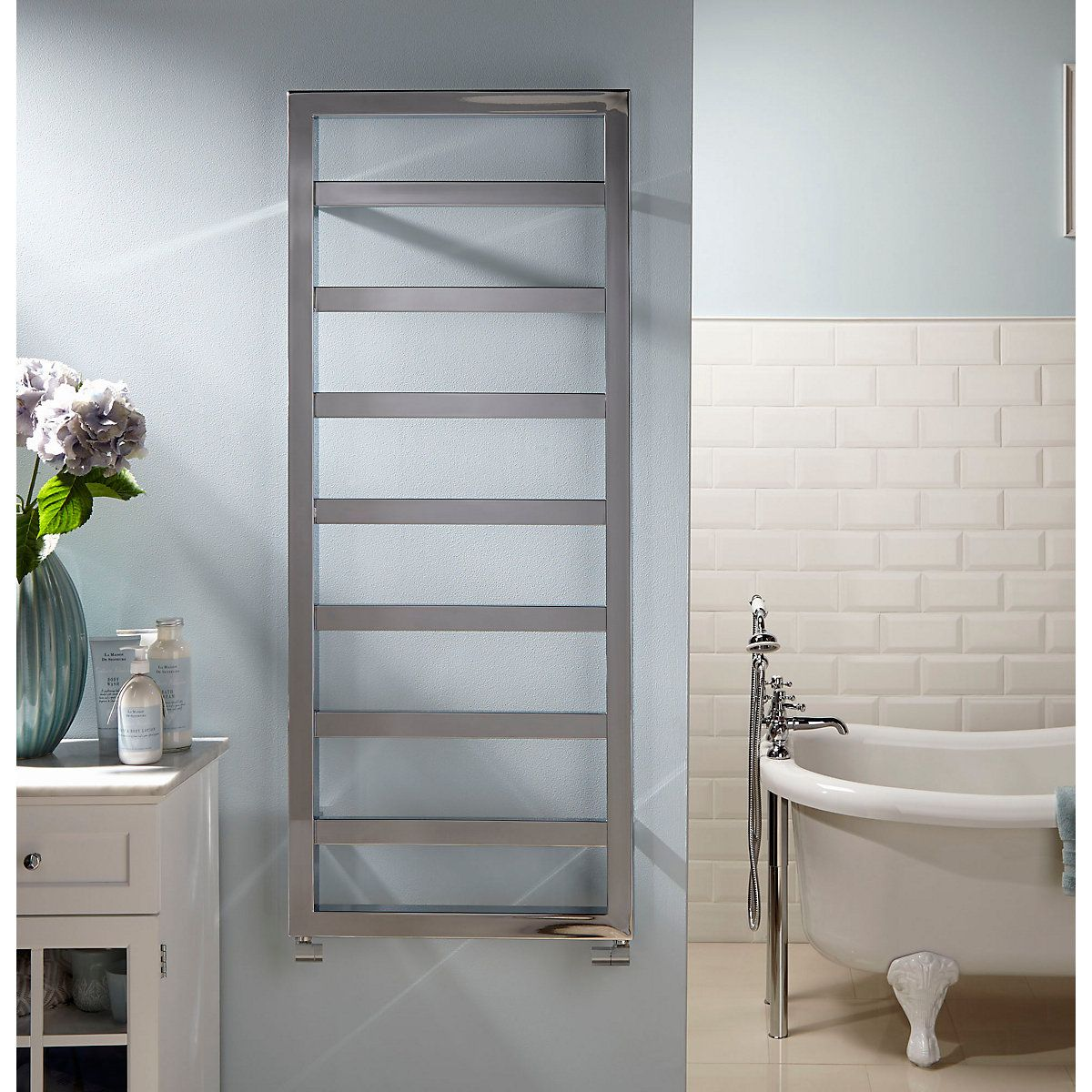 Straight Ladder Towel Rail Chrome 1300mm x