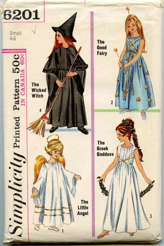 1960s Vintage Sewing Pattern Simplicity 6201 Child\'s and Girls ...