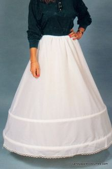 Deluxe Adult Double Hoop Skirt Petticoat
