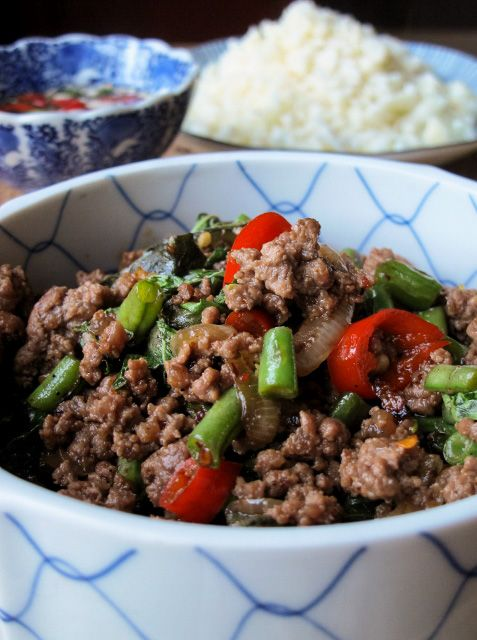Phat Kaphrao Thai Beef Mince With Basil Chilli Minced Beef Recipes Mince Recipes Healthy Healthy Beef Recipes