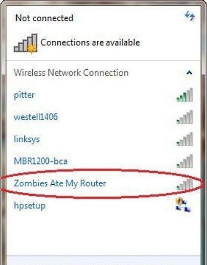 funny network ssid names