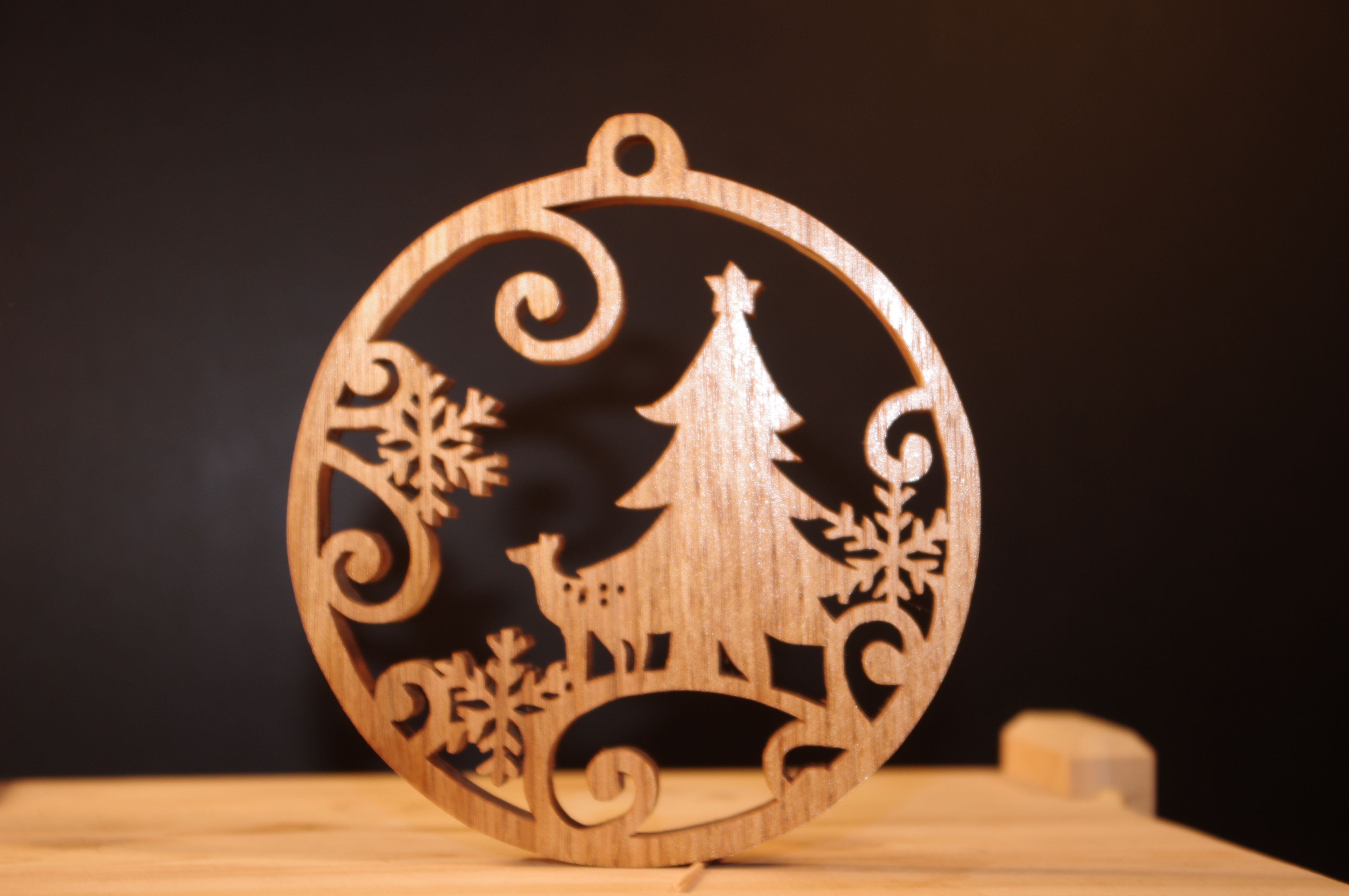 Scroll saw Christmas ornament | Wood creations, Zebra wood