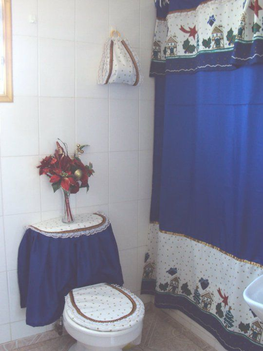 Creaciones Maria Silvia Cortinas de Navidad WC Pinterest