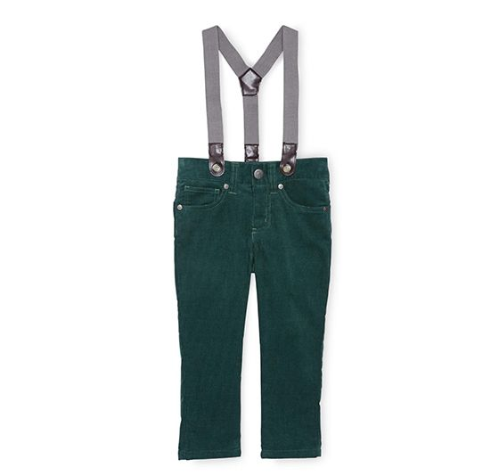 Suspender corduroy pants, $18 by Little Maven